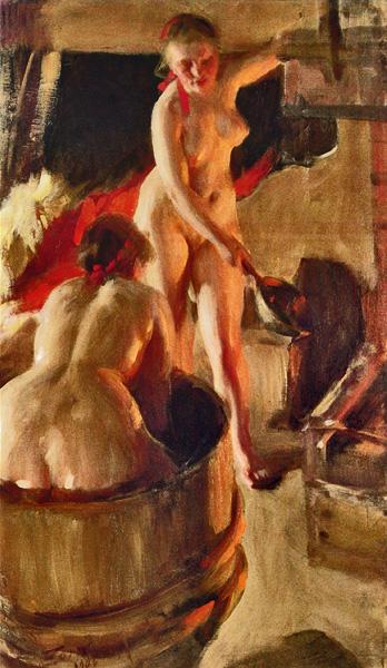 Солидные дамы в бане